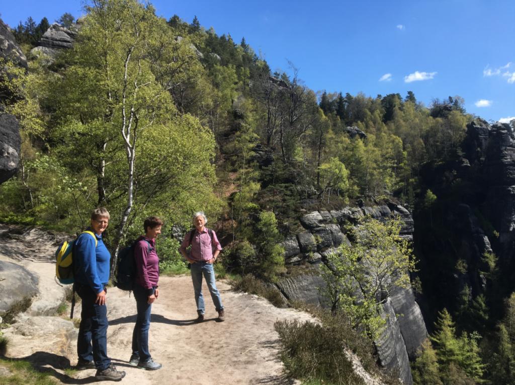 4月、Sächsische-Schweiz(ザクセンのスイス)にて